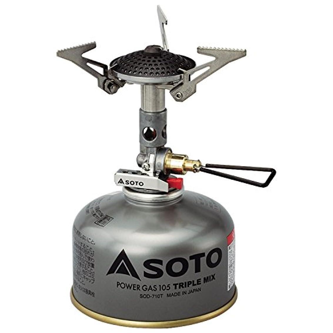 贅沢勇気のある連鎖ソト(SOTO) マイクロレギュレーターストーブ SOD-300S キャンプストーブ OD缶用 シングルバーナー キャンプ ガス バーナー 火力が強い ソロキャンプ ツーリング BBQ 登山アウトドア 収納ケース付き 折り畳み式 防風