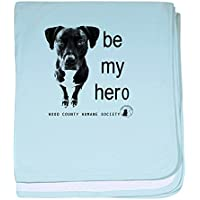 CafePress – Be My Hero – スーパーソフトベビー毛布、新生児おくるみ ブルー 087066898625CD2