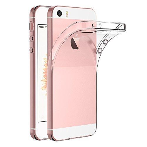 iPhone SE/5S/5 ケース AICEK iPhone SE クリア ソフト シリコン TPU ケース 耐衝撃 落下防止 保護カバー i...