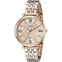 Fossil Women's ES3435 Jacqueline Analog Quartz Rose Gold Watch