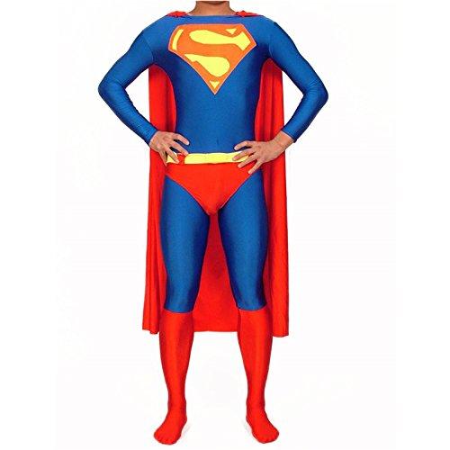 全身タイツ スーパーマン Cosplay 衣装 コスプレ衣装 変装 コスチューム イベント仮装 キャラクター仮装 cos ハロウィン(L)