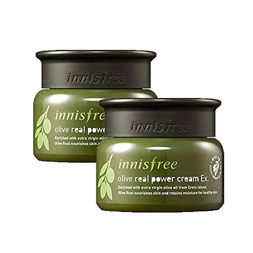 ランプ実業家ビジターイニスフリーオリーブリアルパワークリームEx。50mlx2本セット保湿クリーム韓国コスメ、innisfree Olive Real Power Cream Ex。50ml x 2ea Set Korean Cosmetics...