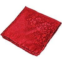 del Sarto Premium Silk Pocket Square Red on Red