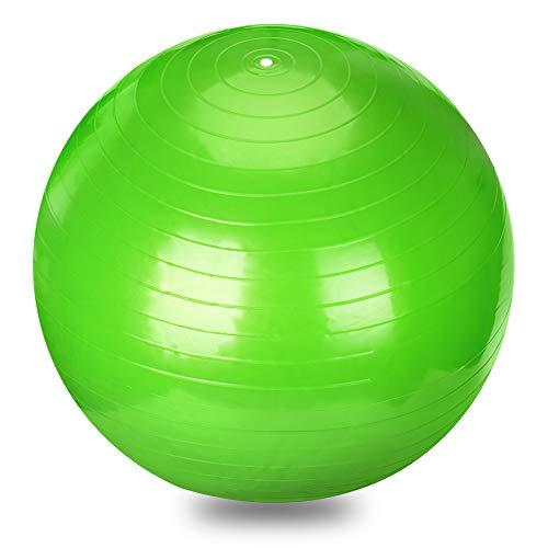 バランスボール moonwind 65cm ダイエット ヨガボール エクササイズボール トレーニング アンチバースト仕様 ポンプ付 プレゼント (グリーン)