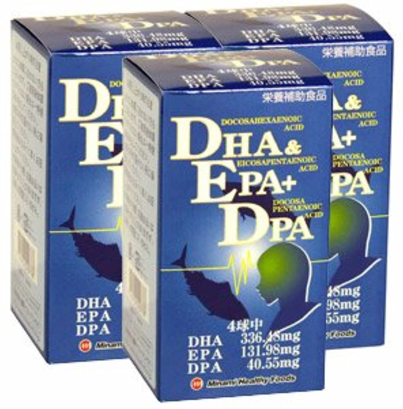 士気サミュエル転用DHA&EPA+DPA【3本セット】ミナミヘルシーフーズ