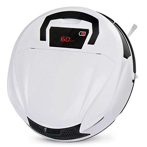 FINE DRAGON 自動ロボット掃除機(落下&衝撃防止感知センサー/タイマー機能搭載)ロボットクリーナー (ホワイト+ブラック)