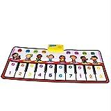 ポータブルピアノキーボード教育音楽マット 39インチ10キー漫画キッズデザイン電子ミュージカルキーボードプレイマット折りたたみフロアキーボードピアノダンス活動マットステップアンドプレイ楽器おもちゃ用幼児子供のギフト 内蔵スピーカー (色 : マルチカラー, サイズ : 39.3*14.1inches)