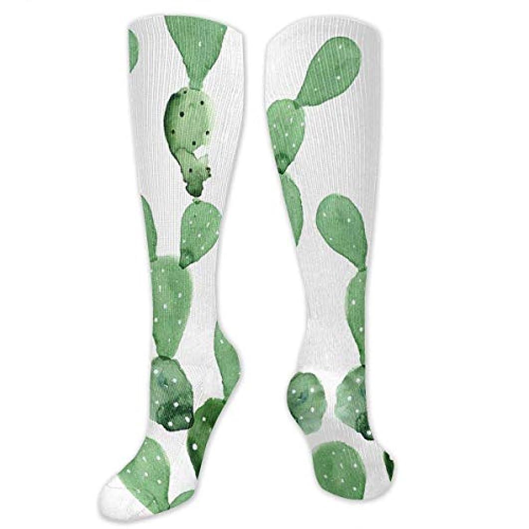 演劇終わり分離靴下,ストッキング,野生のジョーカー,実際,秋の本質,冬必須,サマーウェア&RBXAA Watercolor Cactus Pattern Socks Women's Winter Cotton Long Tube Socks...