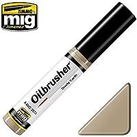 AmmoのMig oilbrusher Dusty Earth – Oilペイントwith Fineブラシ付きアプリケーター# 3523