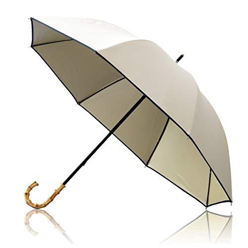 Ombrage 完全遮光 100% 日傘 ショートパラソル 親骨50cm UVカット UPF50+ 紫外線対策 遮熱加工 梅雨 ゲリラ豪雨 夕立 高強度 水をはじく テフロン加工 超撥水