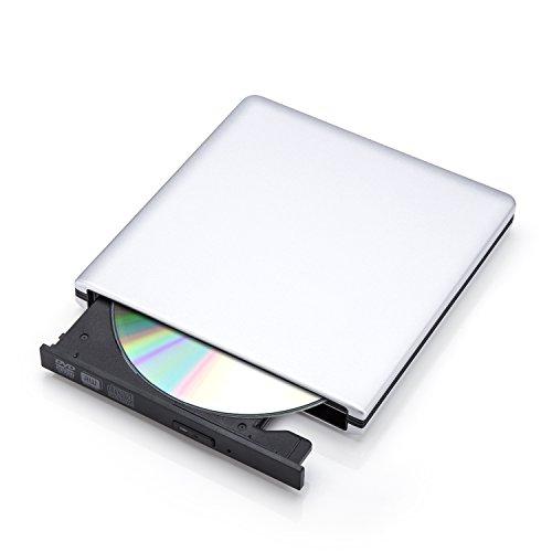 Foneso USB3.0 外付けドライブ ポータブルDVDドライブ スーパードライブ CD-ROM/DVD-ROMなど書き込み可能 Windows/Mac OS対応 超薄型