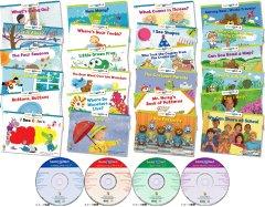 CTP Learn to Read Level 1-1 (絵本24冊+CD4枚+日本語解説書 専用ボックス、ステッカー付き) -