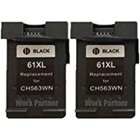 Work Partner インク HP 61 XL BK (2個) 顔料ブラック増量 互換 HP リサイクルインクカートリッジ hp61 CH563WA ENVY 4500 5530 Officejet-4630