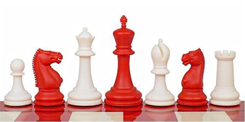 Zukert Plastic Chess Set Red & Ivory Pieces - 4.25' King [並行輸入品]
