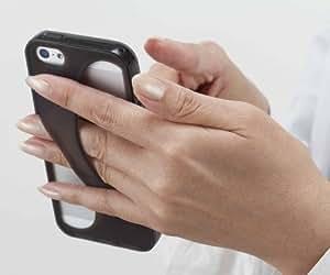 iPhone5S対応 落としにくい!iPhone5S/5 ケース スマホらくらくサスペンダー for iPhone5S/5 (ブラック)