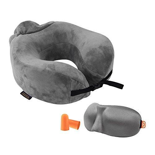 [해외]Discovery 목 베개 숙면 U 형 넥 스탠드 휴대용 저 반발 베개 빨 커버 | 수납 파우치 | 3D 입체형 수면 아이 마스크 (귀마개)있는 여행용 출장 낮잠 비행기 사무실 자택 적용/Discovery Neck Pillow Sleep U-shaped Neck Stand Portable Low Repulsi...