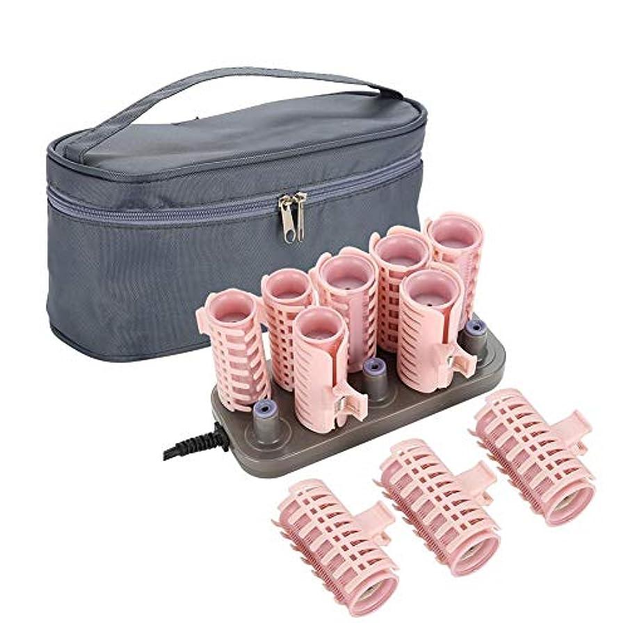 配管シロクマ挑むローラーホットポッドヘアスタイリングツール、10ピースプロフェッショナル電気加熱ローラーカーリングロールdiyヘアスタイルヘアチューブ(アップグレードスタイル)
