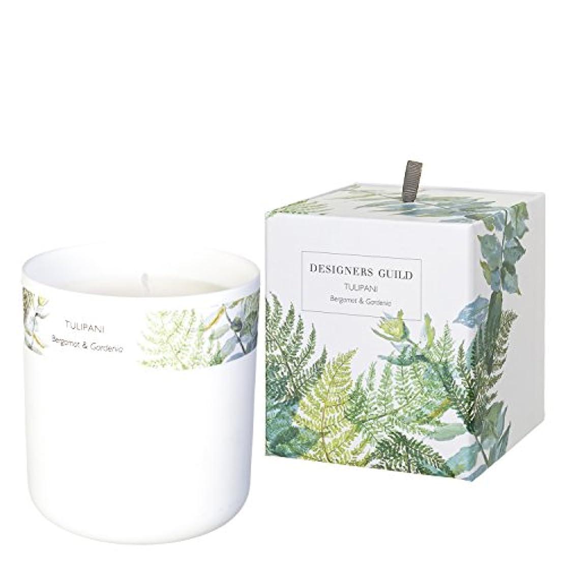 飢え精神医学無しDESIGNERS GUILD キャンドル TULIPANI - Bergamot & Gardenia