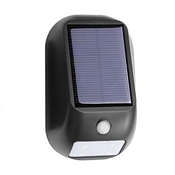 Lighting EVER 人感センサーライト, ソーラーライト, 配線や電源不要, 自動点灯, 太陽光発電, 防水IP55, 壁掛けライト, 常夜灯, LED センサーライト 屋外 玄関 防犯