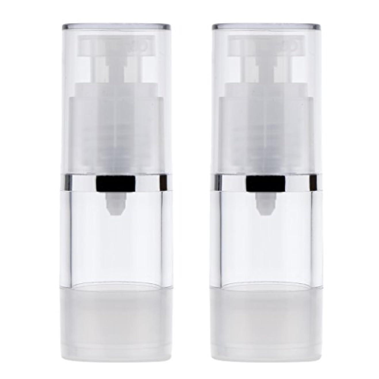 読書をする護衛甘味2個 ポンプボトル ディスペンサー 詰め替え可 化粧品 クリーム ローション ポンプチューブ エアレスボトル 収納用 容器 3サイズ選べる - 15ml