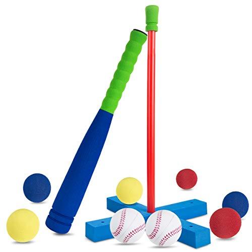 野球 AQV バッティングティー ティーボールセットキッズ 子供 幼児 スポンジ 野球バット子供用 ...