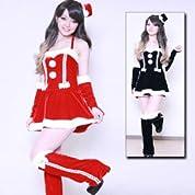 サンタコスチューム マンハッタンミニハット costume352 コスプレ コスチューム衣装 メイド AKBアキバ 女子高生 セーラー服 赤 2l