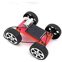 ソーラーパワード モデルカー DIY手作り 太陽エネルギー玩具 子供 ギフト 全3色 - 赤