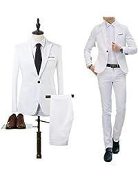 GETS(ゲッツ) スーツ メンズ 2点セット トゥーピース 上下セット ジャケット スラックス セットアップ 1つボタン ビジネススーツ スリム 着心地良い 礼服 結婚式 就職スーツ オールシーズン シンプルデザイン スタイリッシュスーツ パーティー スーツ
