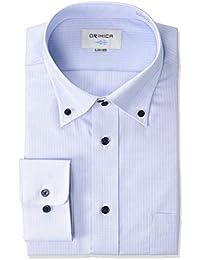[オリヒカ] 長袖 形態安定ワイシャツ 防菌防臭機能付き 選べるバリエーション 【ワイドカラー/ボタンダウン】 メンズ