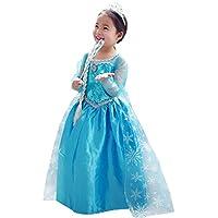 NEW Girl Frozen Queen ELSA Princess Costume Party Birthday Dress 2-8 Years