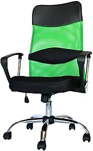 MR-STOREハイバックオフィスチェア 着脱可能腰クッション付き 上下左右可動式 メッシュタイプ グリーン