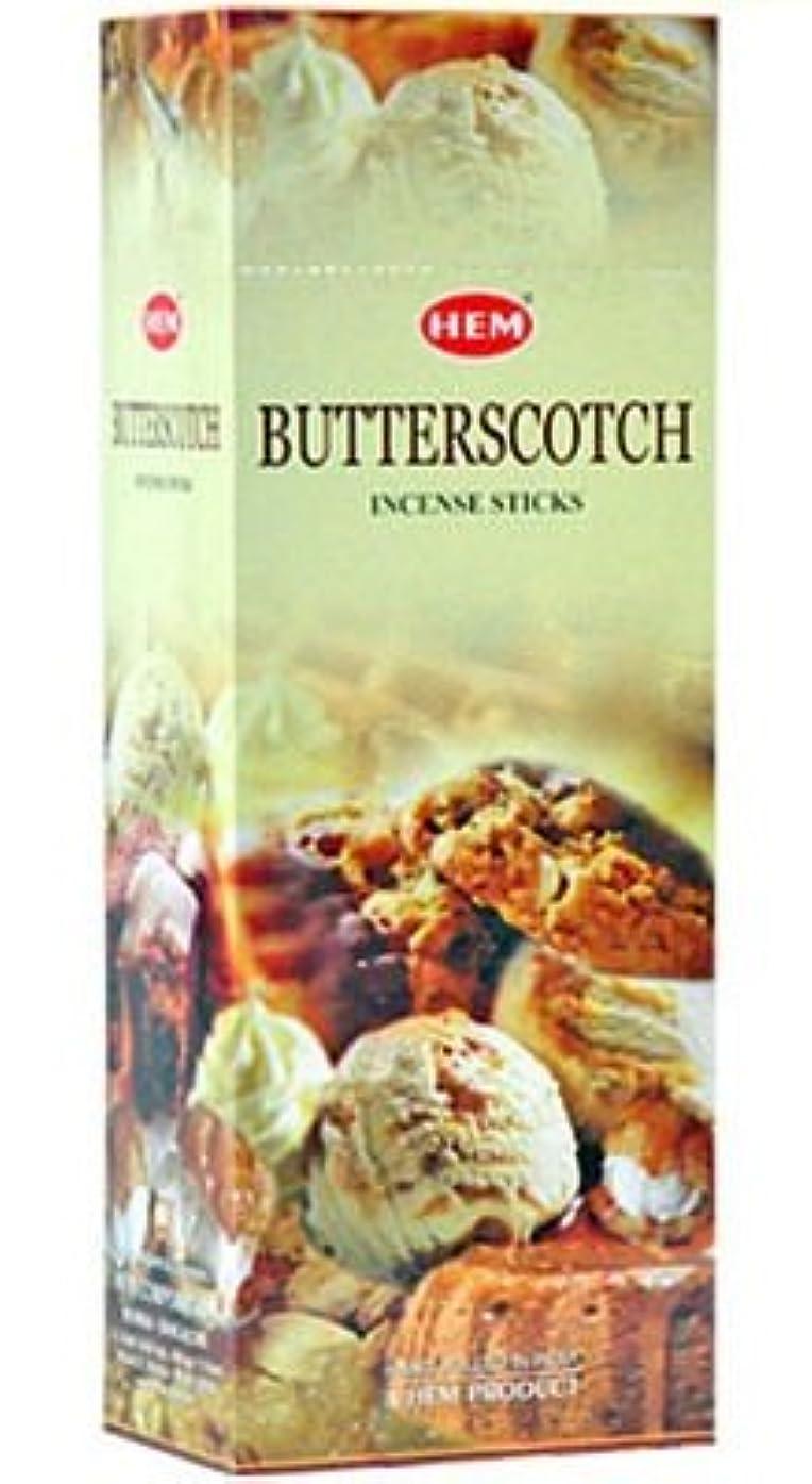 逆滅多故意にHEM(ヘム)社 バタースコッチ香 スティック BUTTERSCOTCH 6箱セット