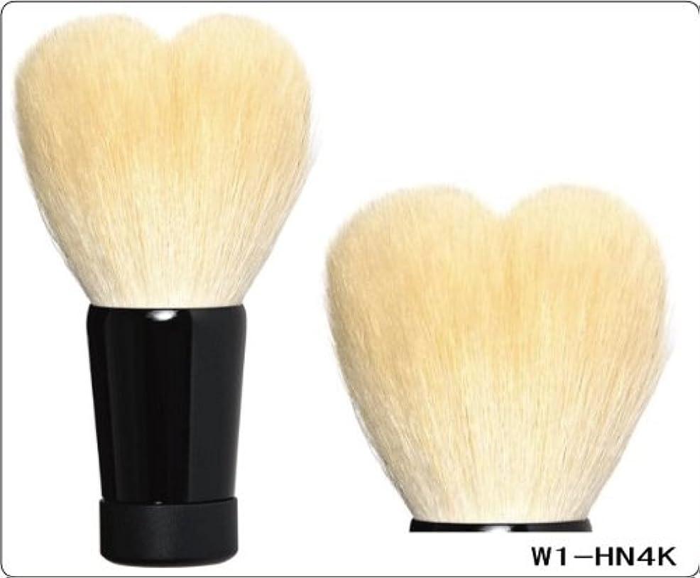 活発理容師姉妹広島 熊野 化粧筆  ハート洗顔シリーズ  洗顔ブラシL (ホワイト)