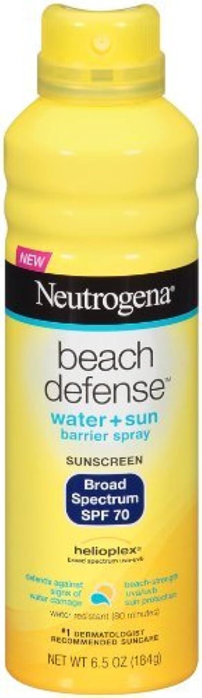 溝不潔メモNeutrogena Beach Defense ニュートロジーナサンスクリーンスプレー SPF70 180g 並行輸入品