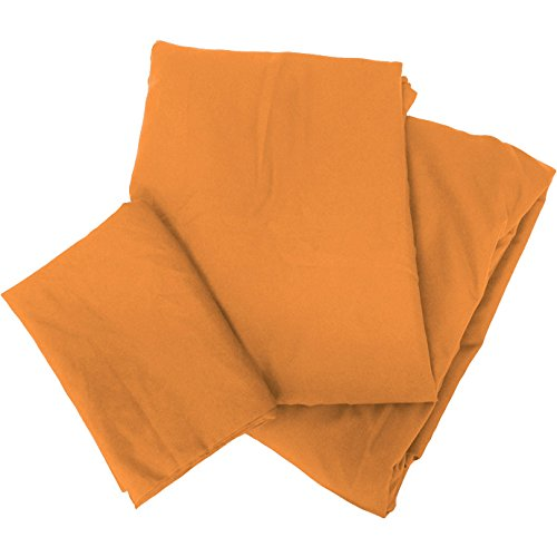布団カバー シングル 3点セット 抗菌 防臭加工 オレンジ ...