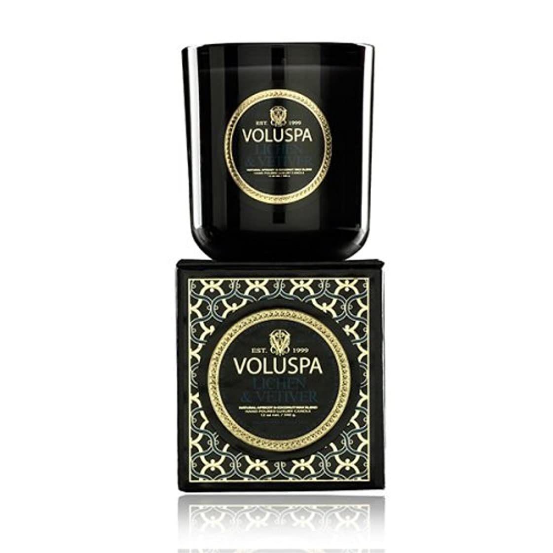 損失司法傾いたVoluspa ボルスパ メゾンノワール ボックス入りグラスキャンドル ライケン&ベチバー MAISON NOIR Box Glass Candle LICHEN & VETIVER
