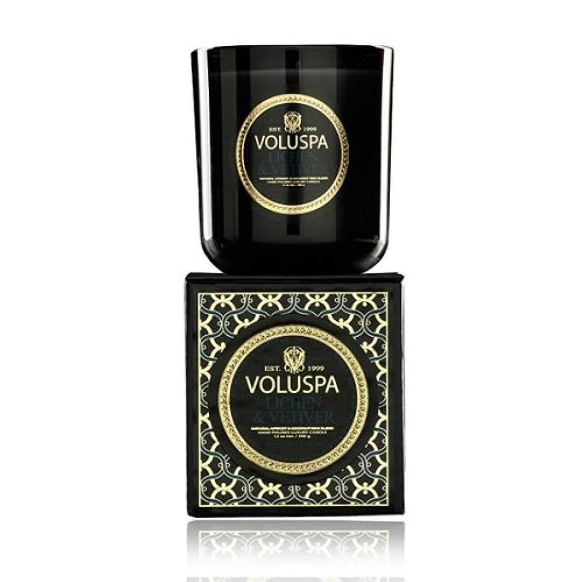 規制パキスタン解任Voluspa ボルスパ メゾンノワール ボックス入りグラスキャンドル ライケン&ベチバー MAISON NOIR Box Glass Candle LICHEN & VETIVER
