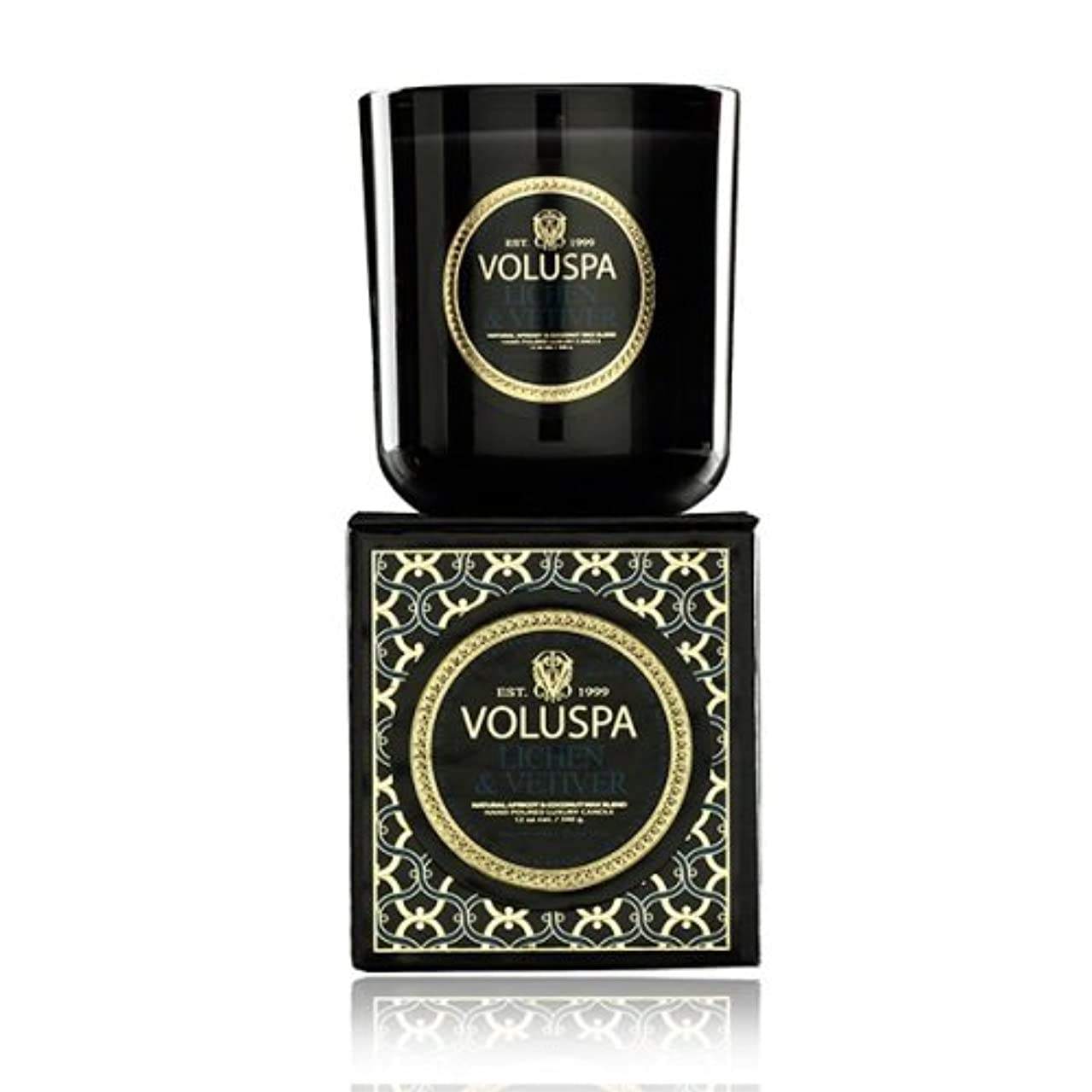 勝つ姿を消す養うVoluspa ボルスパ メゾンノワール ボックス入りグラスキャンドル ライケン&ベチバー MAISON NOIR Box Glass Candle LICHEN & VETIVER