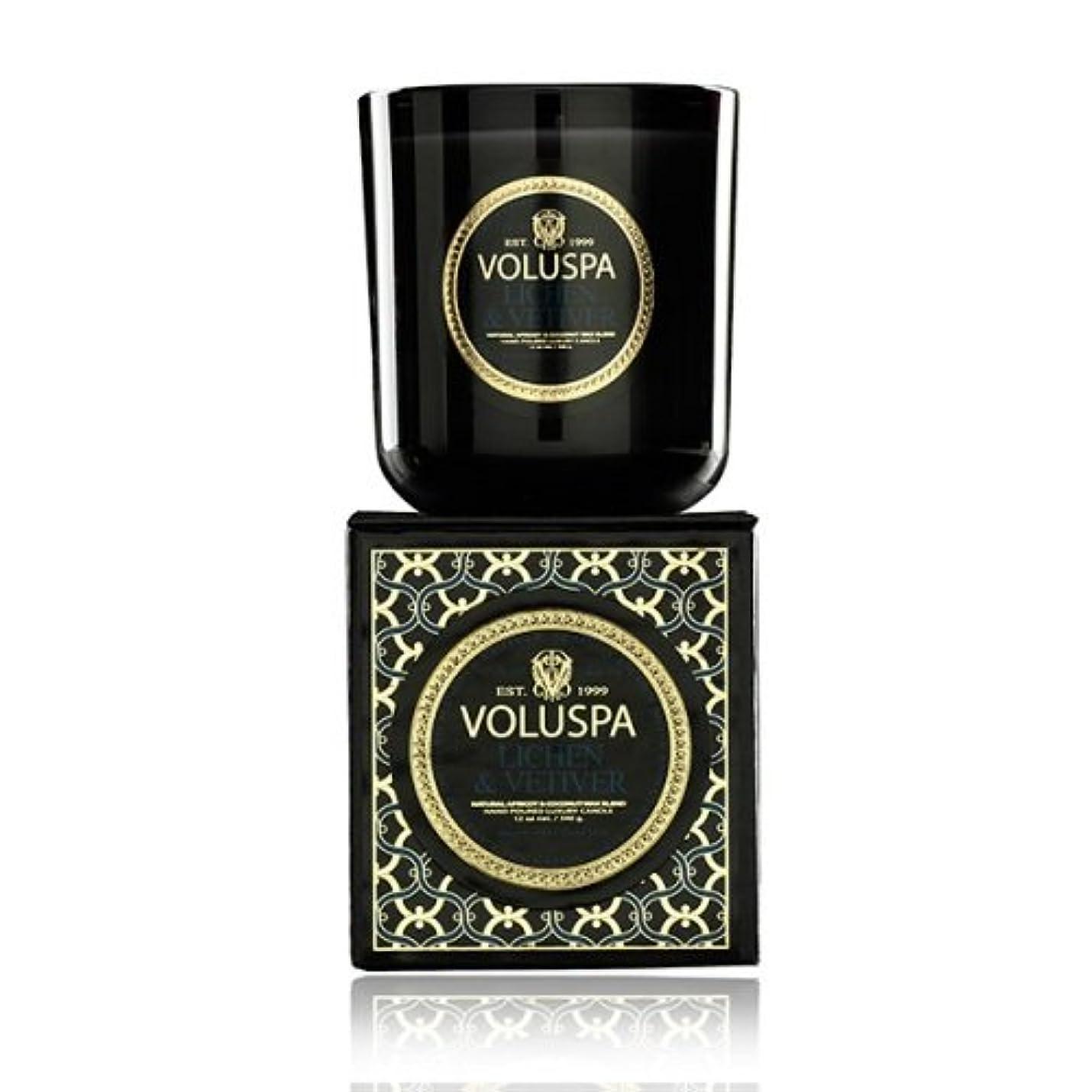 先入観シュリンク対処Voluspa ボルスパ メゾンノワール ボックス入りグラスキャンドル ライケン&ベチバー MAISON NOIR Box Glass Candle LICHEN & VETIVER