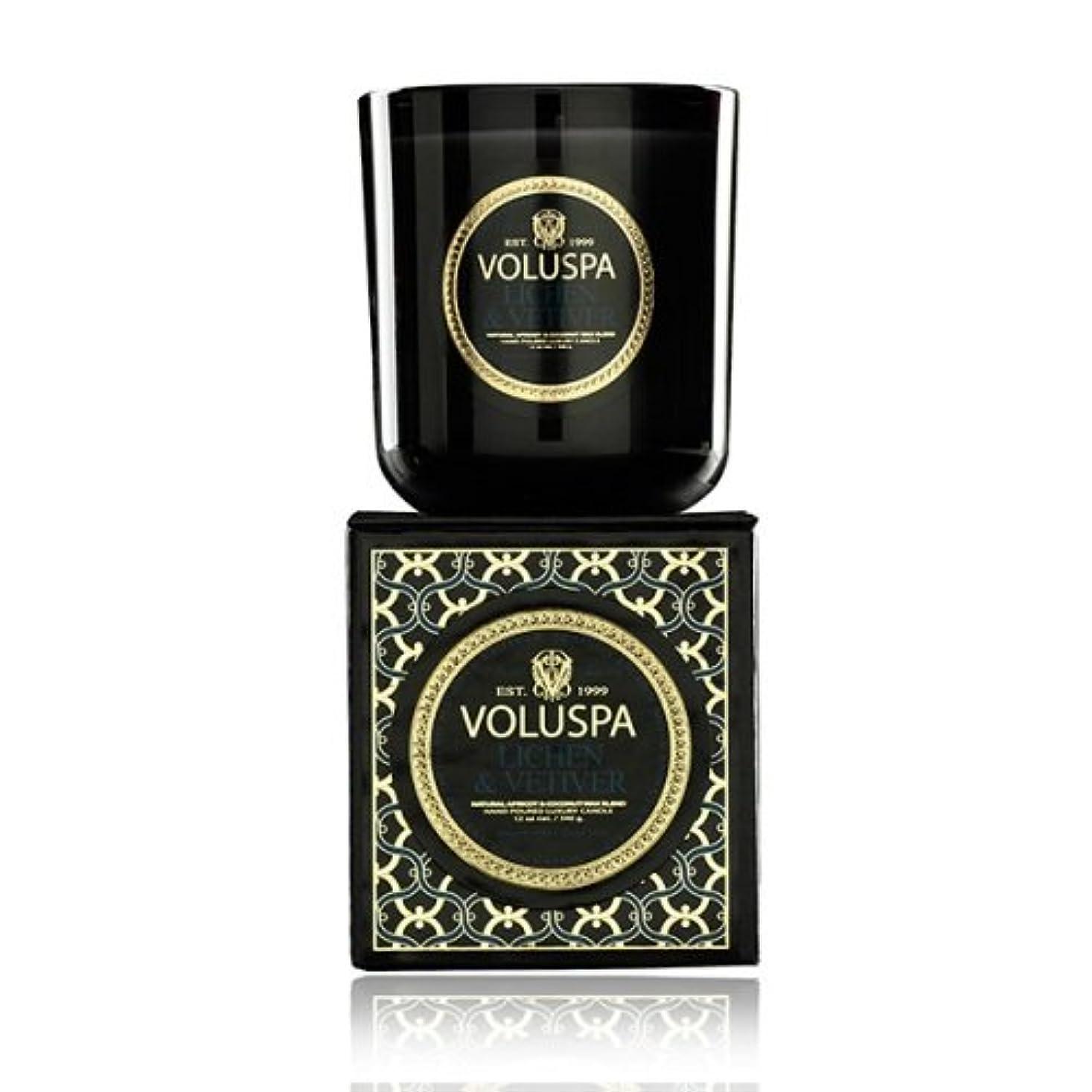 と知恵優越Voluspa ボルスパ メゾンノワール ボックス入りグラスキャンドル ライケン&ベチバー MAISON NOIR Box Glass Candle LICHEN & VETIVER