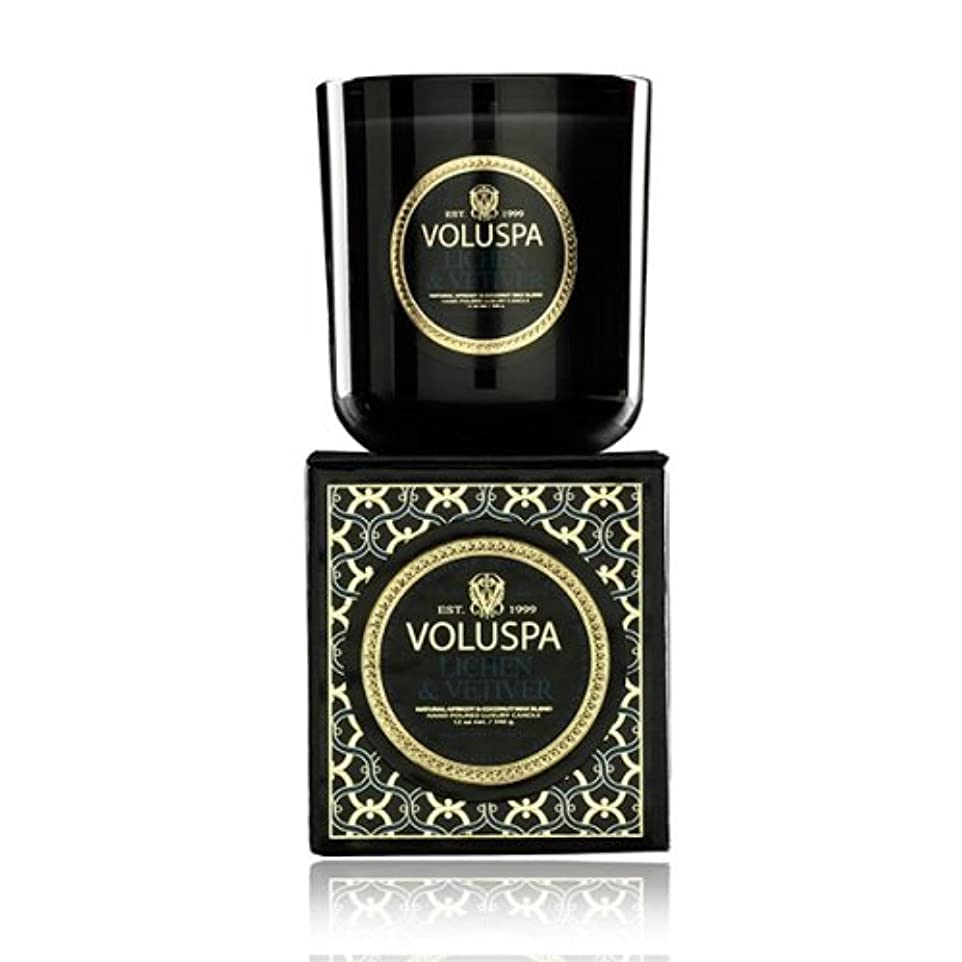 重要ラウズ不毛Voluspa ボルスパ メゾンノワール ボックス入りグラスキャンドル ライケン&ベチバー MAISON NOIR Box Glass Candle LICHEN & VETIVER