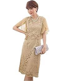 81892ded41c16 結婚式ドレス レース フォーマル ワンピース 袖あり 大きいサイズ パーティー ドレス お呼ばれ 二次会 ...