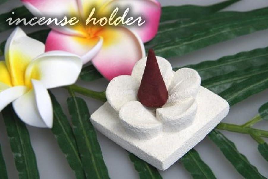 面積配る咲くパラス石で出来たプルメリアのお香立て(1連)