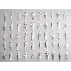 ジオラマ 模型 人 ミニフィギュア × 50 体 セット 1 : 50 1 : 75 1 : 100 1 : 150 1 : 200 1 : 300 (1/200)