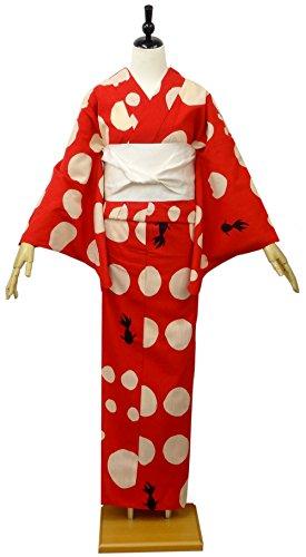 レディース浴衣ツモリチサト-tsumorichisato(赤/金魚8t-16)