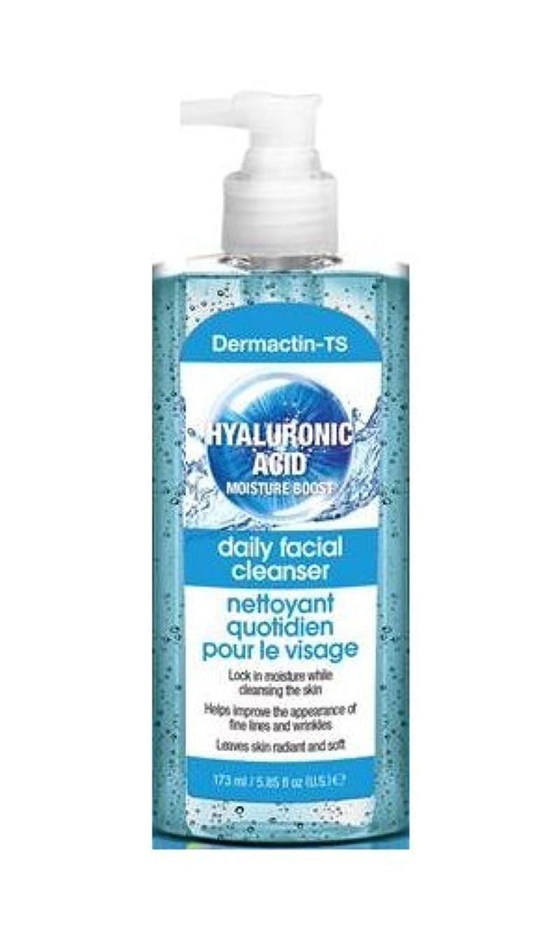 水を飲む湿気の多い肌Dermactin-TS モイスチャーブースターヒアルロン酸フェイシャルクレンザー165g (4パック) (並行輸入品)