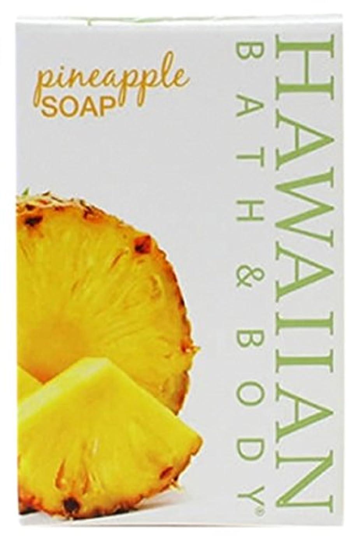 ロゴオフセット磨かれたHAWAIIAN BATH & BODY SOAP パイナップル