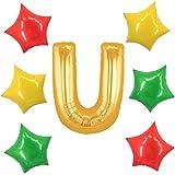 アドワン 数字 風船 バルーン 飾り付け 誕生日 ゴールド 大きい 数字1~9 文字 記念日 お祝い (U)