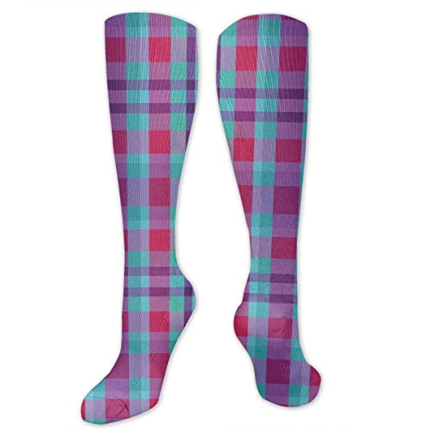 スクラップ戸口ベスト靴下,ストッキング,野生のジョーカー,実際,秋の本質,冬必須,サマーウェア&RBXAA Winter Plaid, Blue, Magenta, Purple Socks Women's Winter Cotton Long...