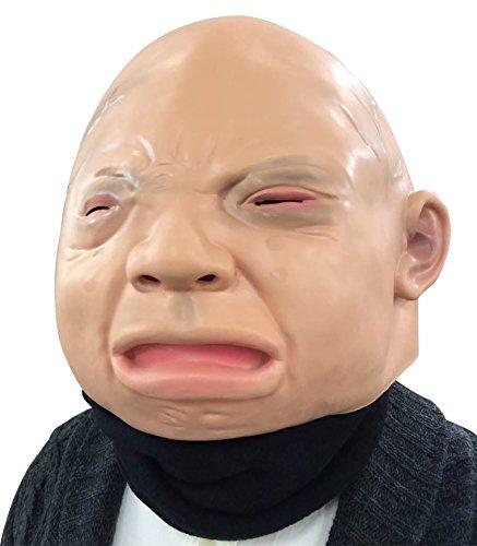 E&S リアル コスプレ 大人 の 赤ちゃん ベビー マスク ネックウォーマー セット 泣き顔